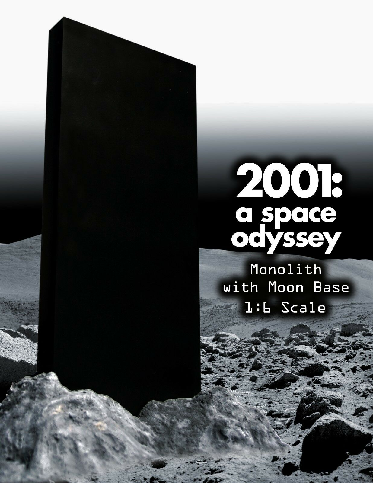 2001 A SPACE ODYSSEY 1/6TH MONOLITH/MOON BASE Astronaut Sci-Fi Travel