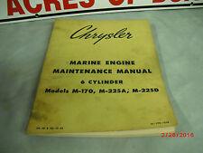 1962 CHRYSLER OEM Maintenance Manual M-170/M-225A/M-225D  #81-770-7528  2-D-3