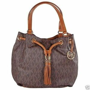 47eff2d6be85f4 Michael Kors Jet Set NS Large Gathered Tote Handbag - Brown for sale ...