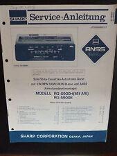 Original Service Manual  Sharp RG-5900H 5900E