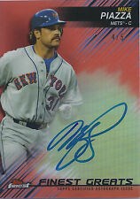MIKE PIAZZA 2016 TOPPS FINEST GREATS ON CARD AUTO RED REFRACTOR 4/5! FREE SHIP!
