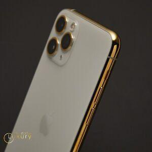 Custom-24K-Oro-Plateado-Apple-iPhone-11-Pro-64-GB-Plata-DESBLOQUEADO-Cdma-Gsm