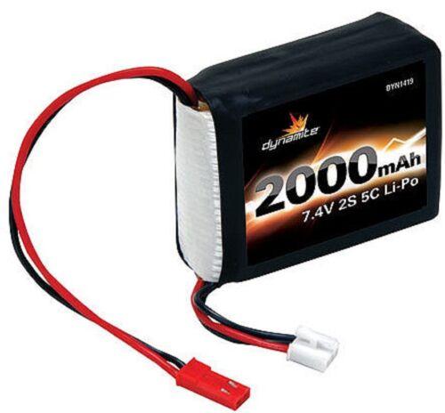 Dynamite DYN1419 7.4V 2000mAh 2S 5C LiPo Battery Receiver Pack 1//8