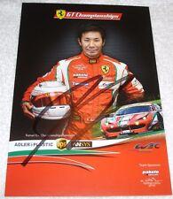 Le Mans 2013 - WEC Du Mans AF Course Ferrari GTE PRO Kamui Kobayashi Signed Card