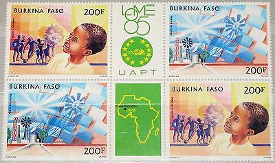 Burkina Faso Afrika Gewissenhaft Burkina Faso 1985 996-97 Zd C310a Philexafrique 85 Renewable Energy Map Mnh