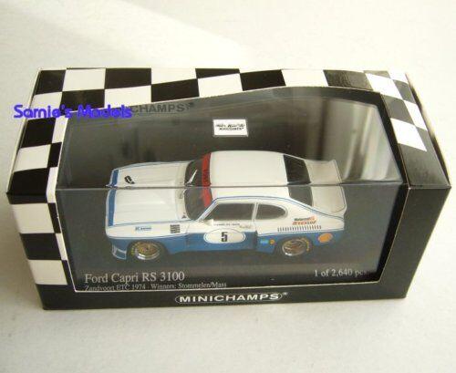 Minichamps - Ford Capri Mk1 RS3100 - Stommelen/Mass,1st Zandvoort '74 - 1/43 NEW