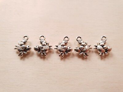 5 x Kleine süße Krebs Anhänger * Maritimer Schmuck + Basteln Deko Charms Silber | eBay