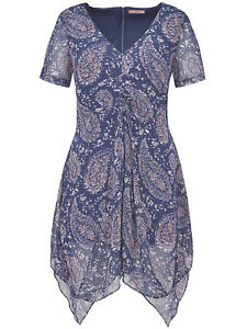 12 28 Sizes Tunic Plus Blouse Browns To Perfect Navy Joe Paisley Top wq8fvcx