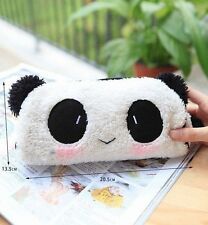 Panda Soft Plush Pencil Case Pen Pocket Cosmetic Makeup Zipper Bag Pouch