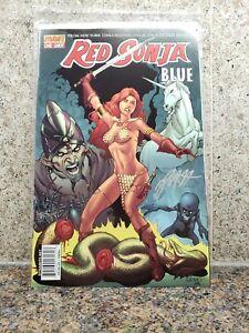 Red-Sonja-Blue-1-Mel-Rubi-Cover-Comic-SIGNED-by-Peter-V-Brett-Dynamite-Comics