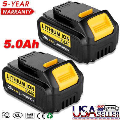 2x 6.0Ah 20V Li-ion Battery For DEWALT DCB200 DCB201 DCB184 DCB182 DCB180 w//LED
