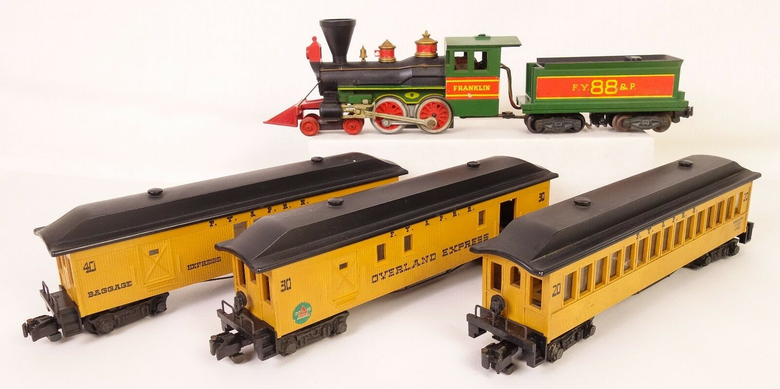 American Flyer Overland Express Set con Franklin 88 Loco-tender & Pass. coches