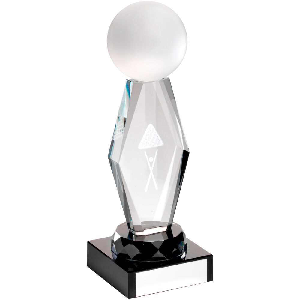 Glass Snooker, Pool Award, 3 Sizes, FREE Engraving,FREE Presentation Case(TD725)