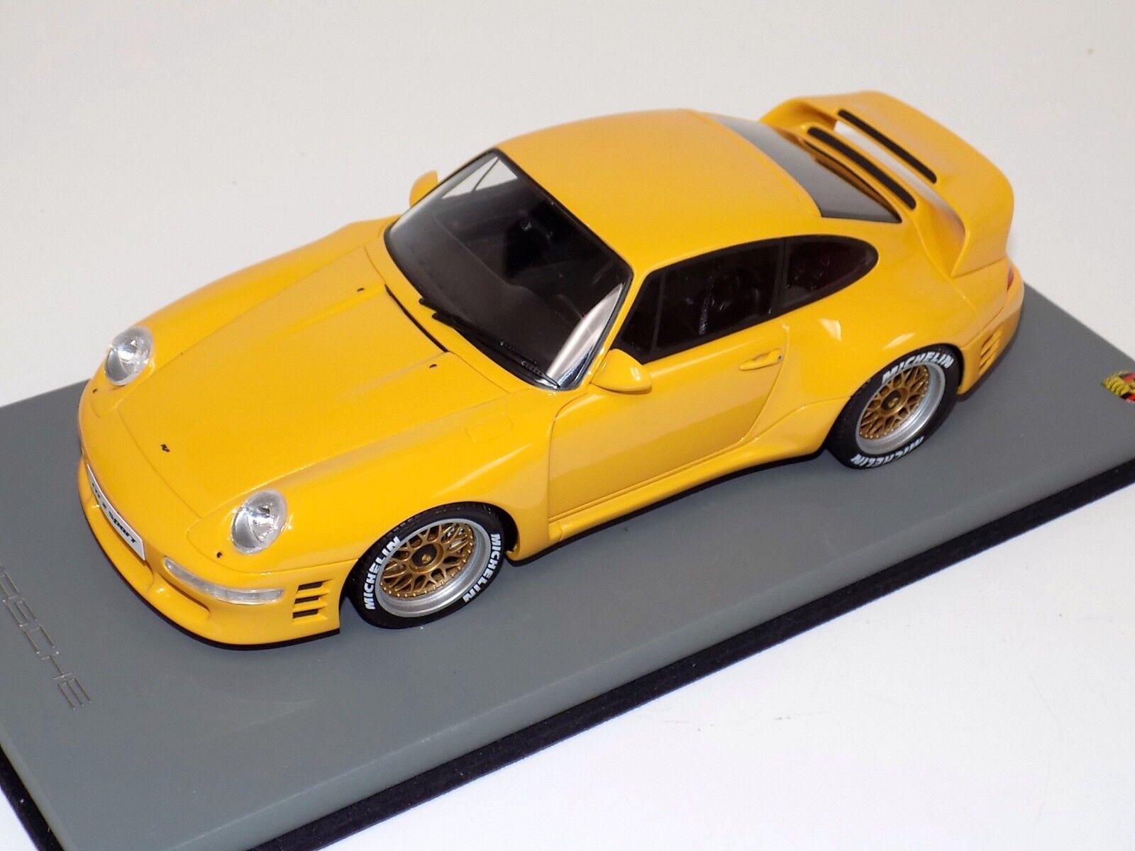 1/18 GT Spirit Porsche 911 993 RUF CTR 2 Sport en Amarillo GT141 Personalizado