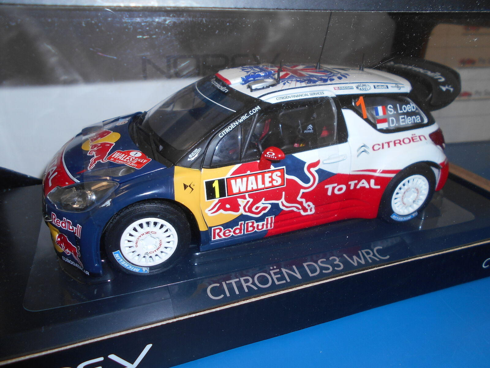 Nv181557 by Norev citroen ds3 WRC  1 Toilet Loeb-Elena 2011 rallye G.B. 1 18