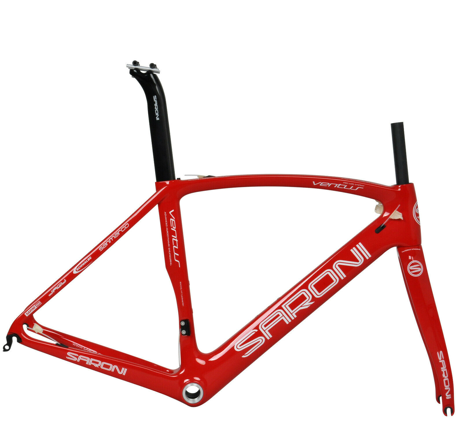 49cm AERO Full Carbon Frame Fork Road Bike Frameset 700C Di2 Race Cycle rouge