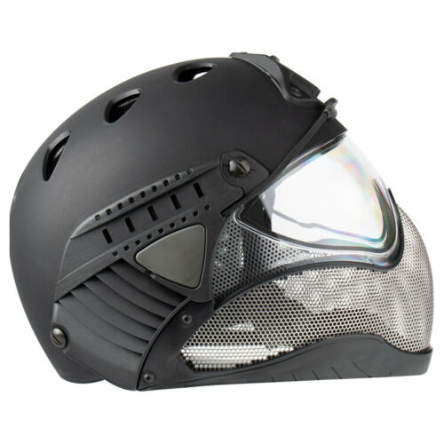 WARQ Full Face Airsoft//Paintball Safety Helmet Black
