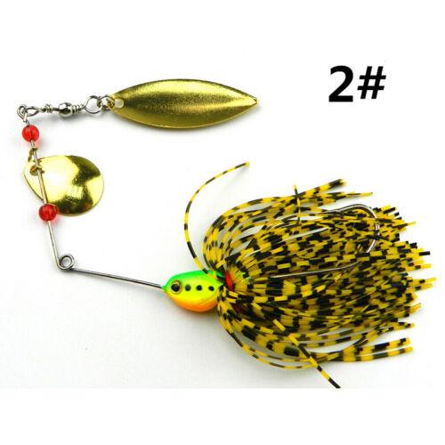 0,57 Unzen hilfreich X Fishing Hard Spinner Köder Spinnerbait Pike Bass 16,3 g