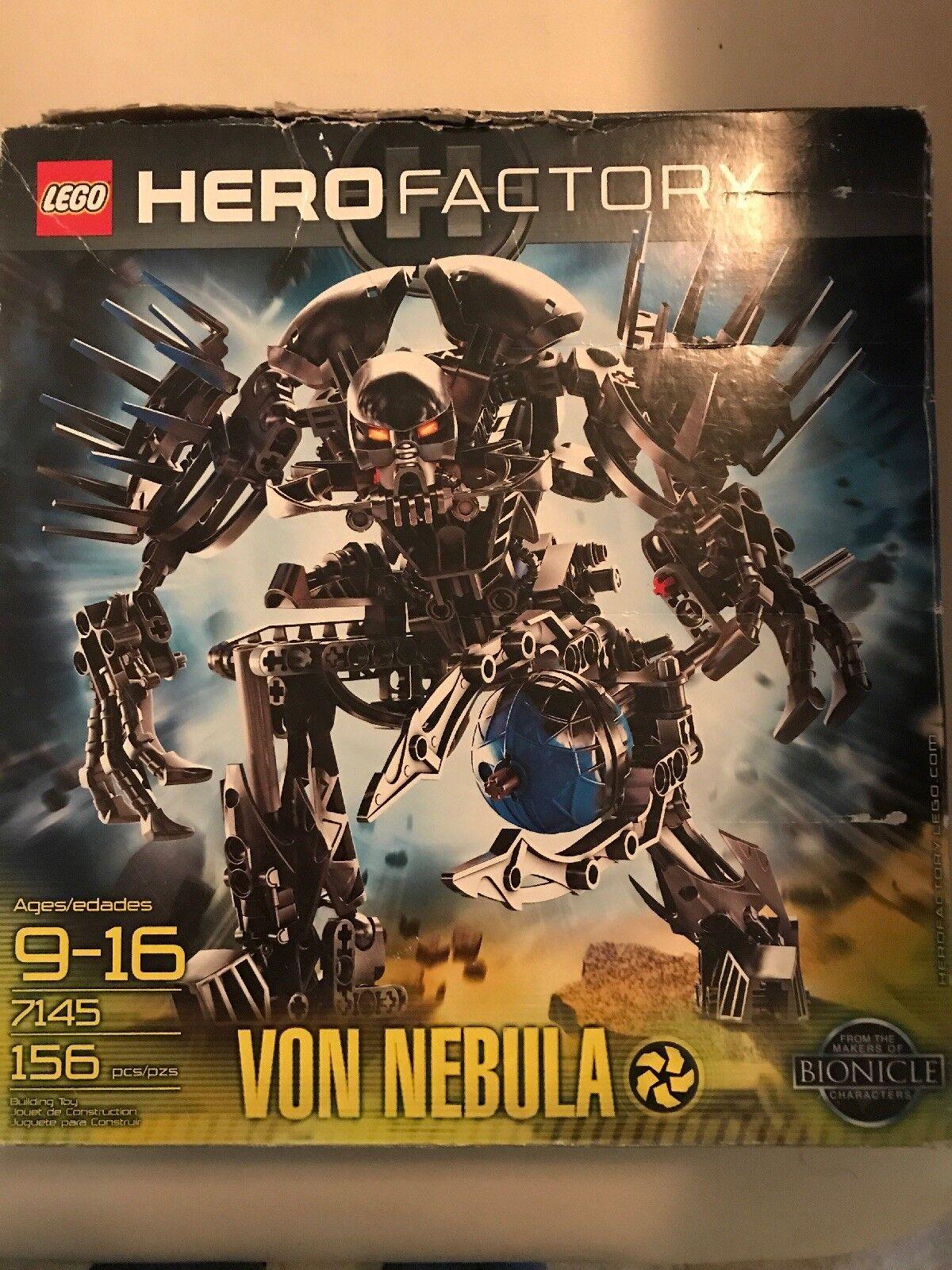 100% completare e Retirosso Lego  Hero Factory Von Nebula (7145) with Instructions  presa