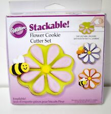 NEW WILTON Flower Cookie Cutter Set 3 PC Easter SPRING Bee PETAL Baby Shower