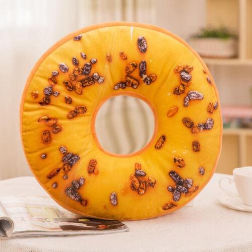 Soft Plush Oreiller En Peluche siège rembourré Sweet Donut Foods Cushion Cover Case Toys