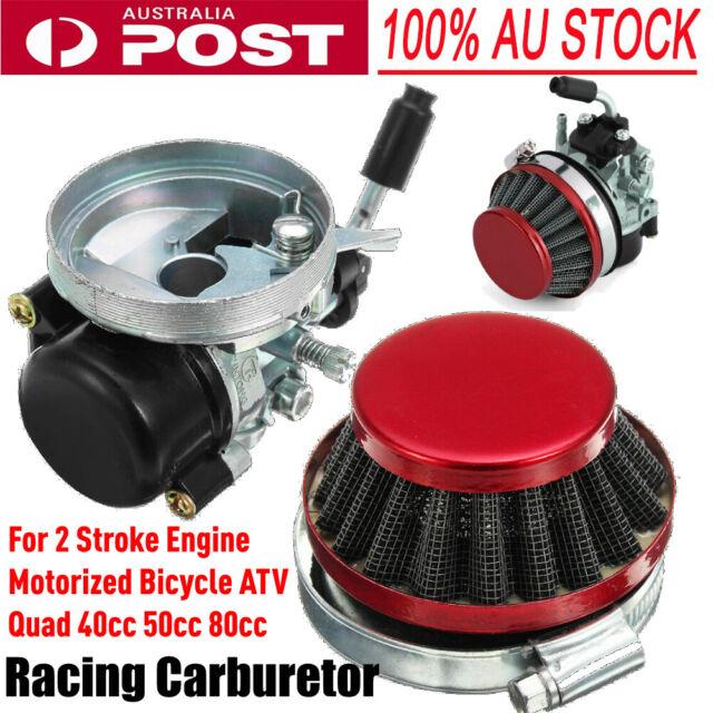 Racing Carburetor Air Filter For 2 Stroke Engine 40/50/80cc Motorized Bicycle fr