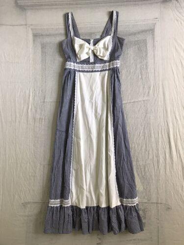 1970s Gunne Sax Gingham Dress