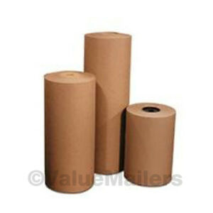 """24/"""" 50 lbs 792/' Brown Kraft Paper Roll Shipping Wrapping Cushioning Void Fill"""