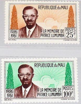 Aggressiv Mali 1962 47-48 33-34 Patrice Lumumba Memory Premier Of Congo Politiker Mnh