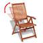 Garden Chairs 2pcs Wooden Folding Dining Wood Chair Outdoor Seater Adjustable