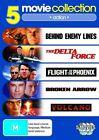 Action Collection - Behind Enemy Lines / The Delta Force / Flight Of The Phoenix / Broken Arrow / Volcano (DVD, 2010, 5-Disc Set)