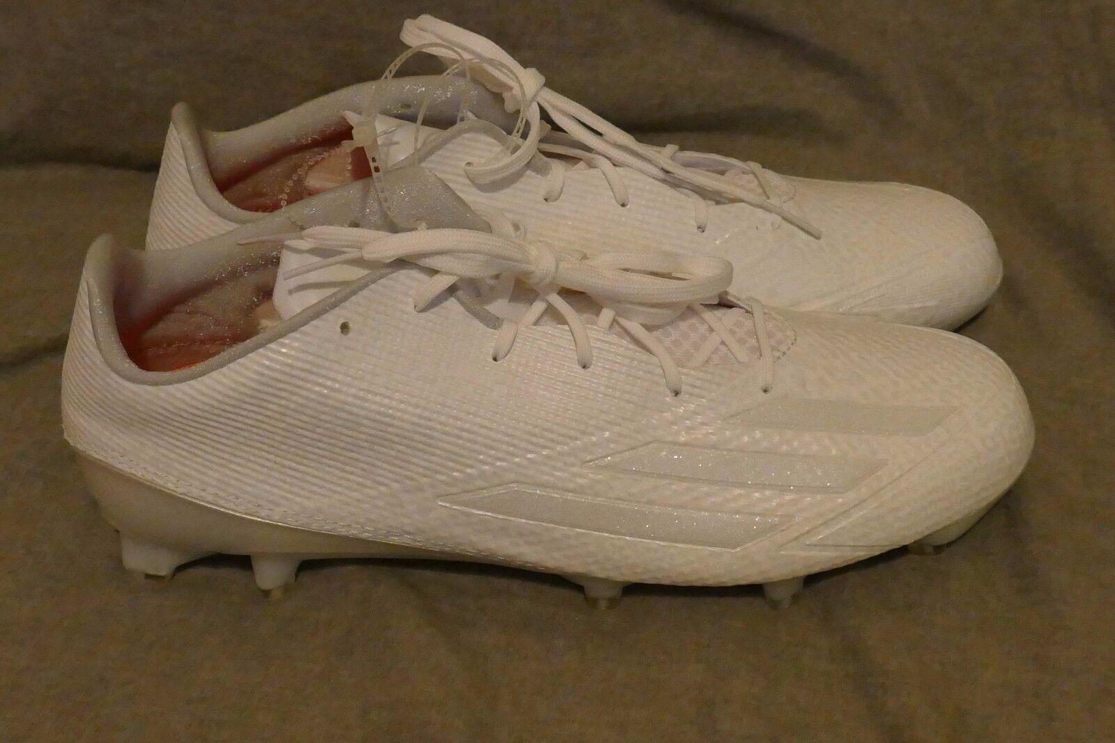 2d5a25fd71a Adidas Adizero 5-Star 5.0 Mens Football Cleats White Men s Size 13.5 Q16063