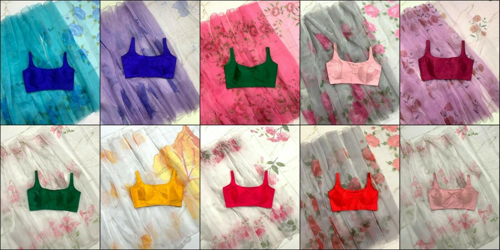 Latest Bollywood Stylish Flower Print Saree With Ready made Fancy sari Blouse VD