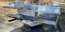 Custom Made Stainless Steel 2 Compartment Sink With Left Amp Right Drainboard 149
