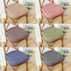 Memory Foam Chair Cushion Soft Breathable Non Slip Seat Pad with Slipcover