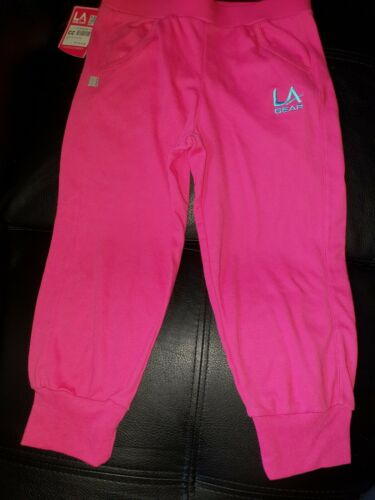 BNWT LA GEAR GIRLS SIZE 11 12 YEARS CROP PINK ACTIVE WEAR BOTS YOGA PANTS