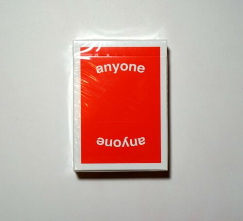 Anyone Worldwide Red Logo Playing Cards Deck