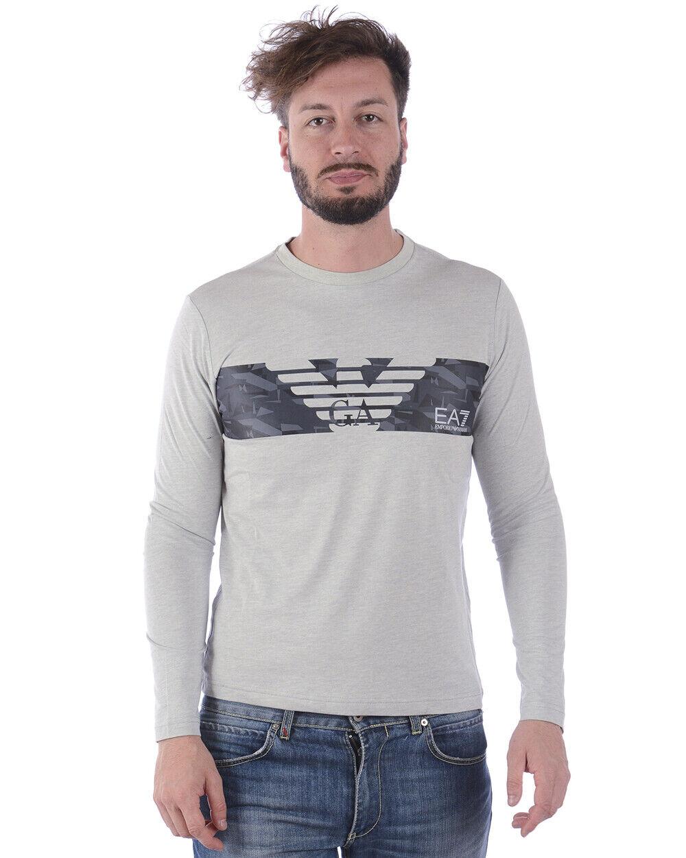 Emporio Armani EA7 T Shirt Sweatshirt Man Grey 3ZPT47PJ30Z 3904 Sz.S MAKE OFFER