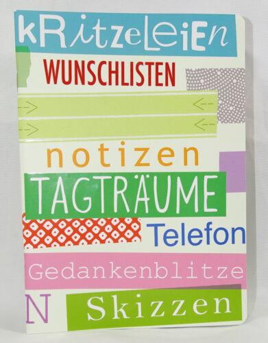 """Notizheft/""""Kritzeleien/""""Skizzen*Notiz-Buch*Tagträume*Wunschlisten*Heft A5*liniert"""