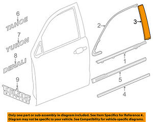 GM OEM Exterior-Rear-Applique Window Trim Right 84263151