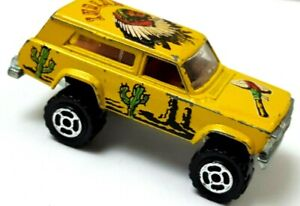Lifted Jeep Cherokee >> Details About Majorette Lifted Jeep Cherokee Chief 4x4 Wagoneer Indian 1 64 Loose 319l41