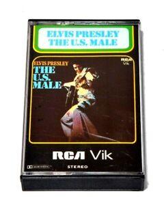 Elvis-Presley-Cassette-Tape-The-U-S-Male-RARE-Vintage-album-rock-blues-soul