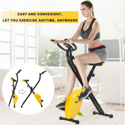 Details about  /Indoor Exercise Slim Folding Bike 3 in 1 Home Stationary Magnetic Cycle Home Use