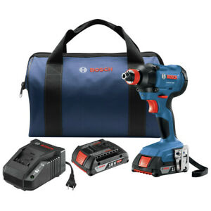 Bosch GDX18V-1600B12-RT 18V 1/4 In. and 1/2 In. Impact Driver Kit Recon