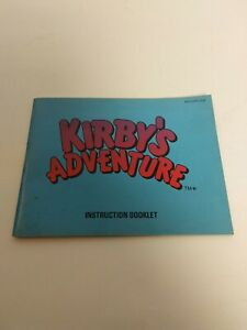 Kirby-039-s-Adventure-Nintendo-NES-Instruction-Manual-Booklet-ONLY