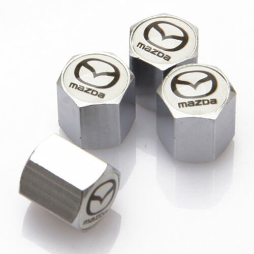 4pcs Car Accessories Styling Tire Valve Stems Caps Covers Badge Logo For Mazda