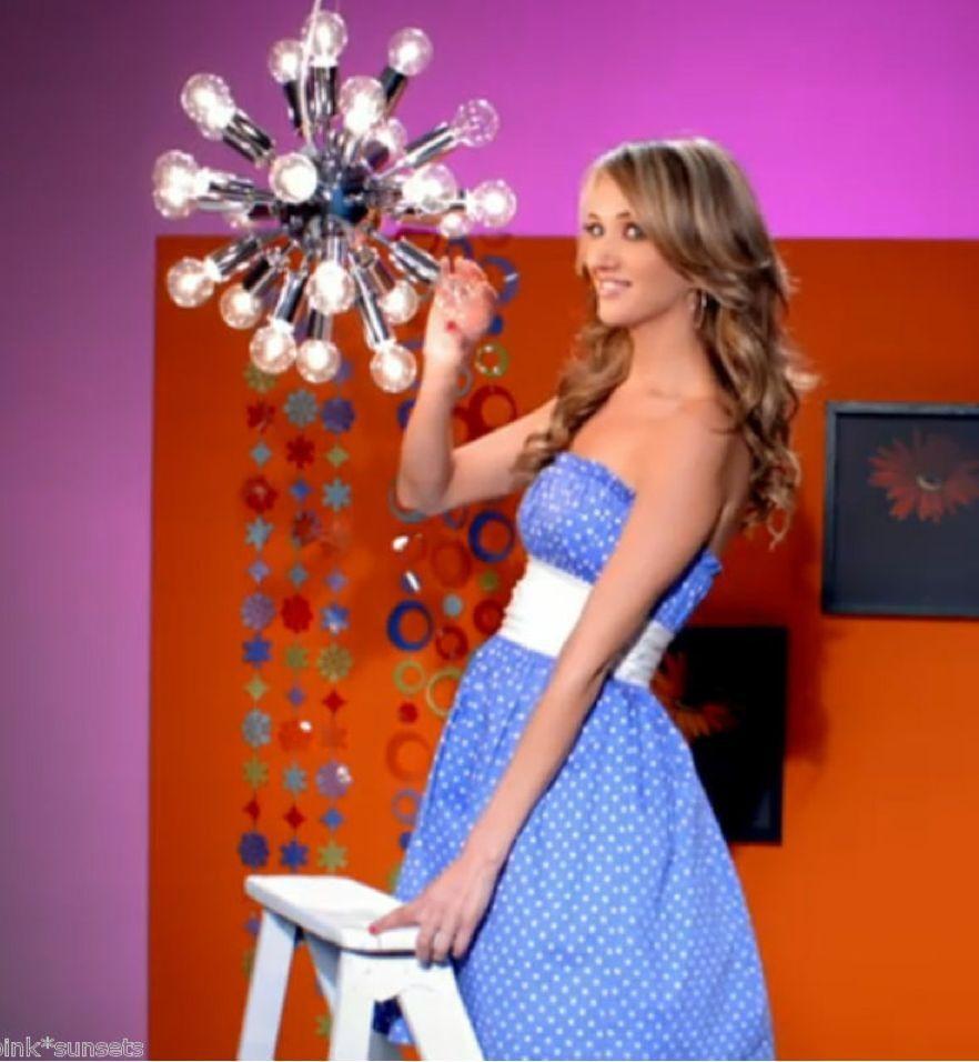 Betsey Johnson Sara bluee Polka Dot Teen Vogue Strapless Party Prom Dress