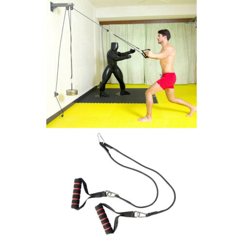 Hand Lifting Load Adjustable Heavy Duty Steel Fitness DIY Pulley Cable Home Gym