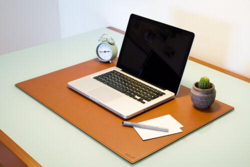 Mousepad xxl gestickte Nähte cm 90x60 Schreibtischunterlage Leder Weiß