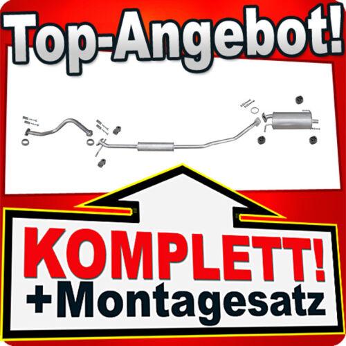 Rohr Auspuffanlage T49 Auspuff OPEL AGILA B 1.0 SUZUKI SPLASH 1.0